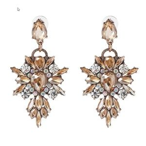 Women Luxury Crystal Rhinestone Drop Earrings